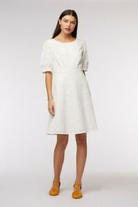 """Princess Highway Cream Broderie Anglaise """"Samantha"""" Dress Size 10 rrp $108"""
