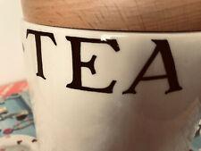 More details for emma  bridgewater  toast and marmalade  tea caddy storage jar ceramic wooden lid