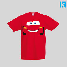 Cars Pixar Disney Lightning McQueen 3 Custom New Film T Shirt Kids Boy Girl Top