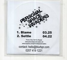 (JC840) Personal Space Invaders, Blame / Settle - DJ CD