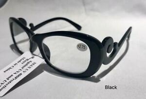 Women's Inspired style reading glasses plastic frame 1.25-4.00