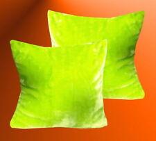 Kuschel Kissen Kissenhülle Apfelgrün Glanz  35 x 35