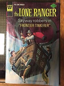 """The Lone Ranger #24 March 1975 Skyway Robbery """"Frontier Tinkerer"""" rare Whitman"""