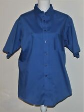 Dress Shirt Size 16 Puritan Blue Short Sleeve Button Up Collar Wrinkle Free NWOT