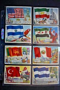 1956 TOPPS *FLAGS OF THE WORLD* COMPLETE 80 CARD SET  VG/EX