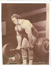 Strongman Powerlifter/Weightlifter Bill Kazmaier Strong Man Muscle Photo B&W