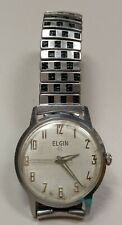 Vintage 1960s ELGIN 314 Stainless~A.S.1802~17J Swiss  Mechanical Mens Watch