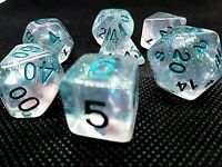 7 RPG Würfel Set Poly DND Borealis HD Dice Winter Walker warhammer Rollenspiel