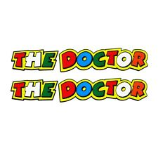 V Rossi `the doctor` sticker motorcycle decals  graphics x 2