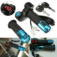 24V 36V 48V 60V Electric EBike Throttle Grip Scooter Handlebar LED Digital Meter