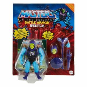 MASTERS OF THE UNIVERSE ORIGINS BATTLE ARMOR SKELETOR DELUXE FIGURE / EU CARD