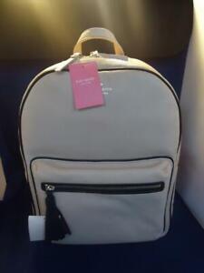 Kate Spade Chester Street Aveline Large Beige Pebbled Leather Backpack WKRU5122