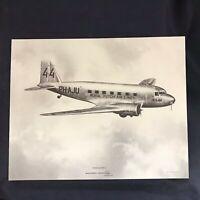 Vintage DC-2 McDonnell Douglas Vendor Aircraft Print