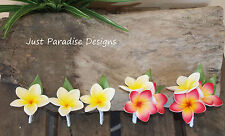 Silk Flower Wedding Pin Corsage and Button Hole Set - Frangipani