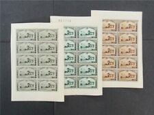 nystamps Belgium Stamp # B166-B168 Mint OG H $180 Sheets Of 10