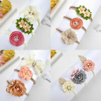 Cute Girls Baby Toddler Infant 3pcs Flowers Headband Hair Bow Band Accessories