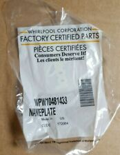 New, Whirlpool OEM Nameplate/Badge for Cooking & Refrigeration models W10481433