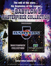 Babylon 5 CCG Masterpiece Collection Set Sell Sheet Ad Flyer Cards Precedence