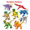 1pc Colorful  World Dinosaur Blocks Building Mini Figure Kids Toy Gifts Random