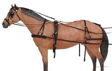 Horse Driving Harness - Samson Deluxe - Horse Size  - Black  Nylon