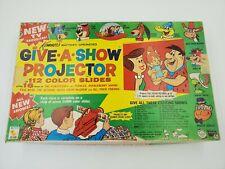 Give A Show Projector & Slides w/Box Flintstones 12 Slides different Cartoons