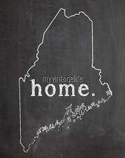 """MAINE HOME STATE PRIDE 2"""" x 3"""" Fridge MAGNET CHALKBOARD CHALK COUNTRY"""
