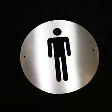 Brushed Stainless Steel MENS Toilet Sign