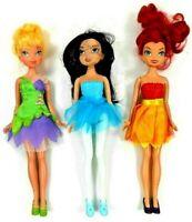 "Disney Jakks Fairy Dolls Skirt & Shoes 9""-9.5"" Tinkerbell Rosetta Silvermist"