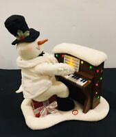 2005 Hallmark Jingle Pals Piano Snowman Musical Lights Decoration ~ Please Read