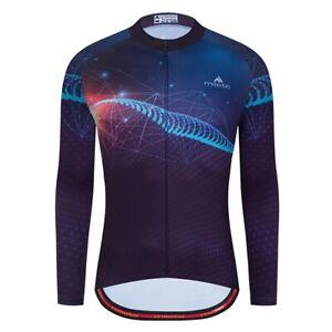 Men's Cycling Jersey Clothing Bicycle Sportswear Long Sleeve Bike Shirt J74