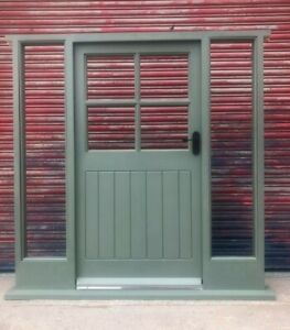 Hardwood Wooden Cottage Style Front Door + Sidelights Made to measure! Bespoke!