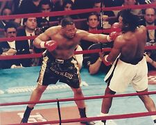 LENNOX LEWIS vs RAY MERCER 8X10 PHOTO BOXING PICTURE RING ACTION