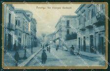 Salerno Nocera Inferiore Via Giuseppe Garibaldi PIEGHE cartolina VK1074