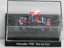"""Mercedes-Benz 190 E """"Sixt Art Car"""", OVP, Herpa, 1:87"""