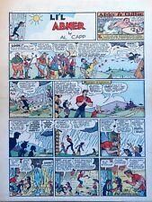 Li'l Abner by Al Capp - 1st Joe Btfsplk, full tab page Sunday comic July 7, 1940