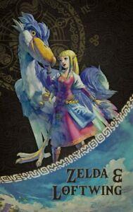 NEW Zelda & Loftwing Amiibo Card