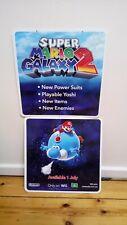 RARE NEW Super Mario Galaxy 2 Wii Nintendo Promotional Shop Display