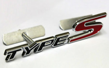 Honda Civic Type S Front Grill Badge Black Red