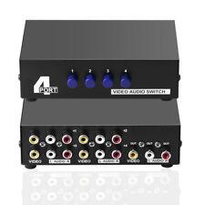 AV 4 in1 4-Way Video Audio AV RCA Schalter Composite Video-L/R Audio-Selektor