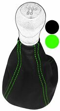 Funda para palanca de cambios Piel genuina para Seat Leon 1 I 1999-2005, Verde