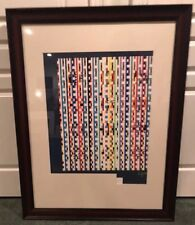 "LE YAACOV AGAM SERIGRAPH  COA SIGNED ""Beyond the Visible""  Art 16/75 1980 HC"