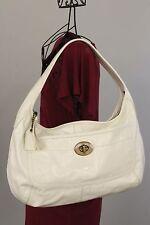 COACH XL Ergo Hobo Purse / Shoulder Bag White Patent Leather 11009 Authentic!