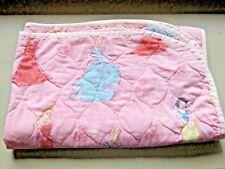 Disney Princess Toddler Pink Comforter Quilt Cinderella Snow Sleeping Beauty
