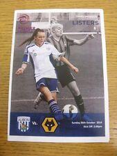 26/10/2014 West Bromwich Albion Sporting Club Ladies v Wolverhampton Wanderers W