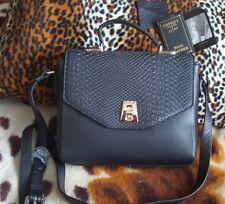 New OSPREY LONDON Amelia Cross Body Anaconda Bag Black Leather Handbag tags £165