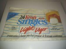 Vtt Kraft Singles Light English & French Promotional Document Holder Made Taiwan