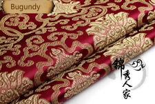 Chinese Satin Faux Silk Fabric Flower Brocade Dress Garment Cheongsam DIY Retro