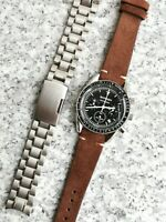 Speedmaster Man On The Moonwatch Homage Watch Quartz with Free Leather