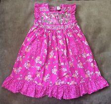 Cornelloki Girls 100% Cotton Pink Floral Dress, 2T