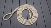 Narrow Boat Mooring Rope - 14mm Polyhemp 40ft Long With Soft Eye & Back Splice
